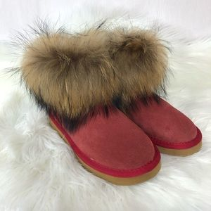 UGG Fox Fur Mini Boots SZ 7M